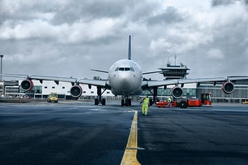 SAS-fly i Københavns Lufthavn